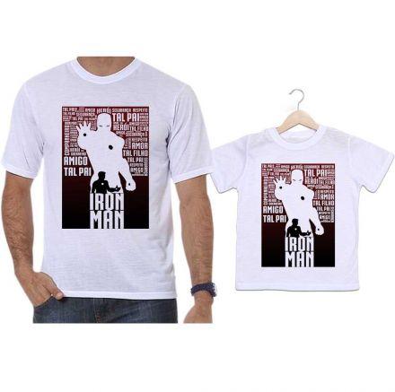 Camisetas Tal Pai Tal Filho Homem de Ferro