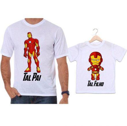 Camisetas Tal Pai Tal Filho Homem de Ferro Super Herói