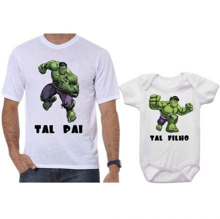 Camisetas Tal Pai Tal Filho Hulk