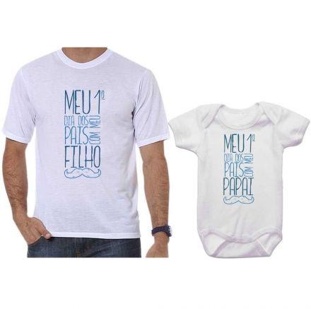 Camisetas Tal Pai Tal Filho Meu 1º Dia dos Pais Com Meu Filho CA0646