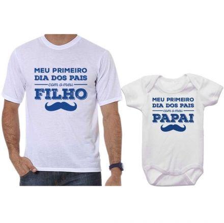 Camisetas Tal Pai Tal Filho Meu 1º Dia dos Pais Com Meu Filho CA0648