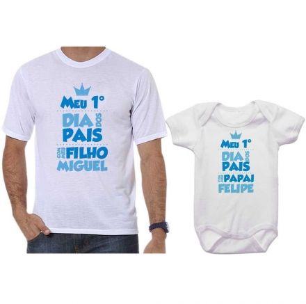 Camisetas Tal Pai Tal Filho Meu 1º Dia dos Pais Com Meu Filho CA0654