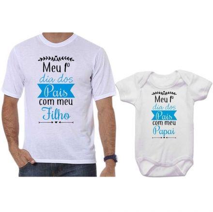 Camisetas Tal Pai Tal Filho Meu 1º Dia dos Pais Com Meu Filho CA0661