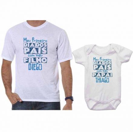 Camisetas Tal Pai Tal Filho Meu 1º Dia dos Pais Com Meu Filho CA0666