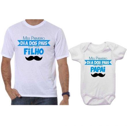 Camisetas Tal Pai Tal Filho Meu 1º Dia dos Pais Com Meu Filho CA0681