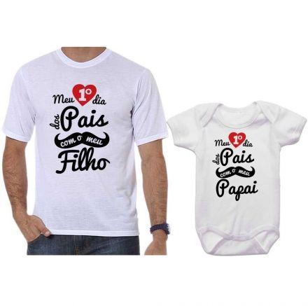 Camisetas Tal Pai Tal Filho Meu 1º Dia dos Pais Com Meu Filho CA0682