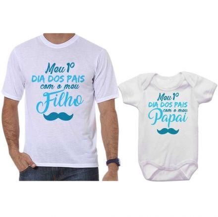 Camisetas Tal Pai Tal Filho Meu 1º Dia dos Pais Com Meu Filho CA0684