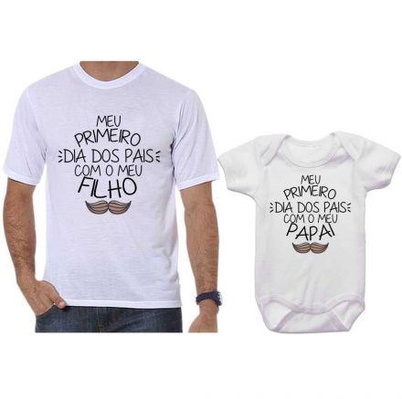 Camisetas Tal Pai Tal Filho Meu 1º Dia dos Pais Com Meu Filho CA0685