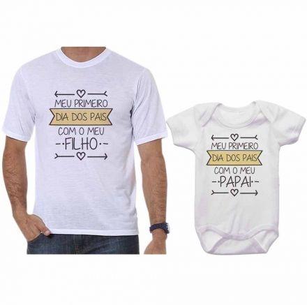 Camisetas Tal Pai Tal Filho Meu 1º Dia dos Pais Com Meu Filho CA0687