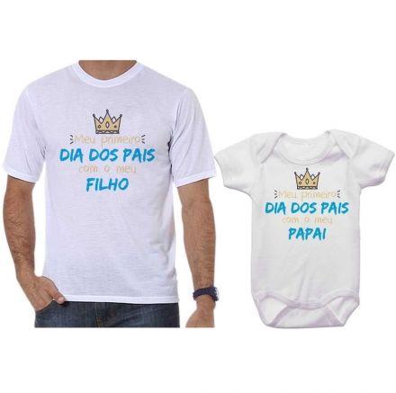 Camisetas Tal Pai Tal Filho Meu 1º Dia dos Pais Com Meu Filho CA0688