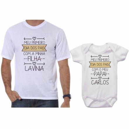 Camisetas Tal Pai Tal Filho Meu 1º Dia dos Pais Com Meu Filho CA0690