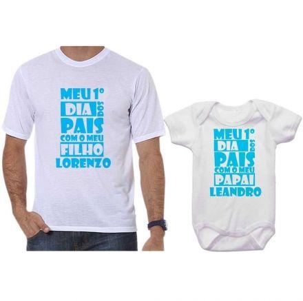 Camisetas Tal Pai Tal Filho Meu 1º Dia dos Pais Com Meu Filho CA0692