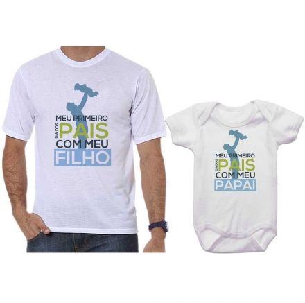 Camisetas Tal Pai Tal Filho Meu 1º Dia dos Pais Com Meu Filho CA0694