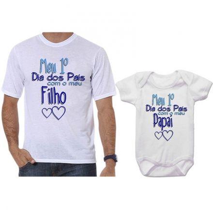 Camisetas Tal Pai Tal Filho Meu 1º Dia dos Pais Com Meu Filho CA0714