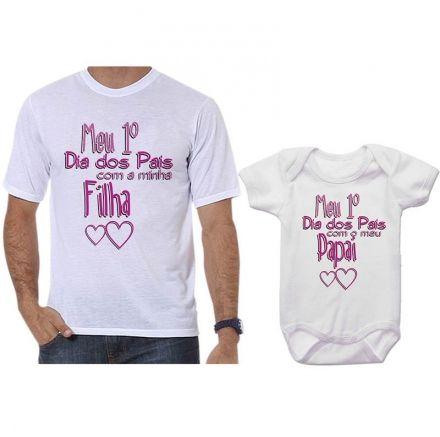 Camisetas Tal Pai Tal Filho Meu 1º Dia dos Pais Com Meu Filho CA0715