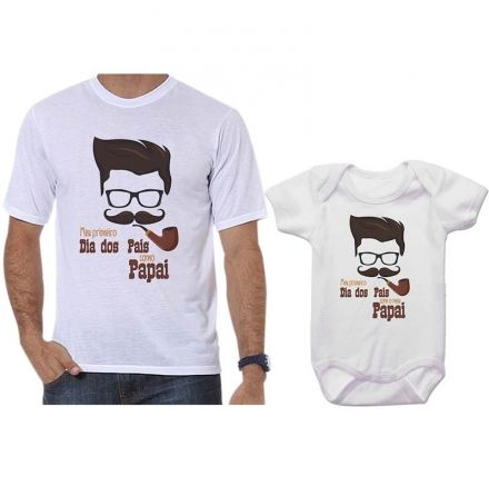 Camisetas Tal Pai Tal Filho Meu 1º Dia dos Pais Com Meu Filho CA0716