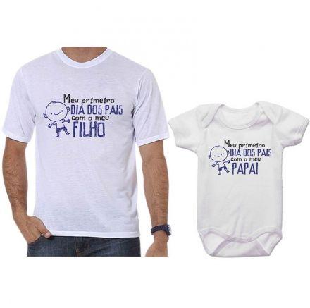 Camisetas Tal Pai Tal Filho Meu 1º Dia dos Pais Com Meu Filho CA0717