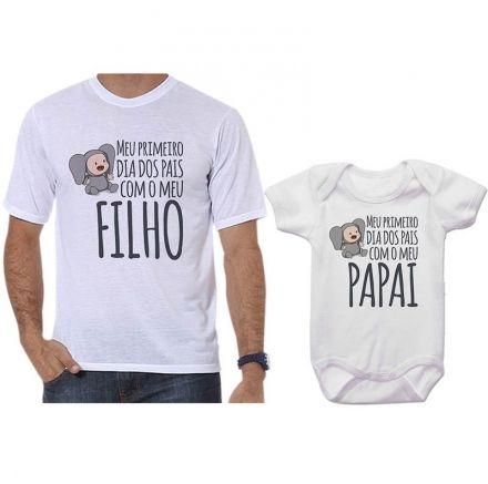 Camisetas Tal Pai Tal Filho Meu 1º Dia dos Pais Com Meu Filho CA0720