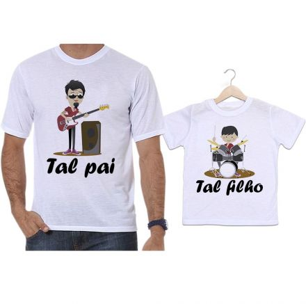 Camisetas Tal Pai Tal Filho Musicos Guitarra Baixo Bateria