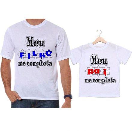 Camisetas Tal Pai Tal Filho Quebra Cabeça Meu Filho Me Completa