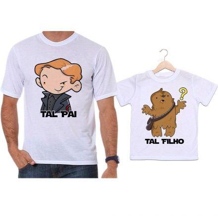 Camisetas Tal Pai Tal Filho Star Wars Han Solo e Chewbacca