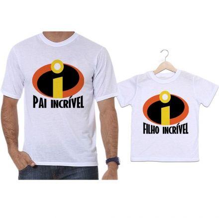 Camisetas Tal Pai Tal Filho Super Herói Os Incríveis Pai Incrível e Filho Incrível