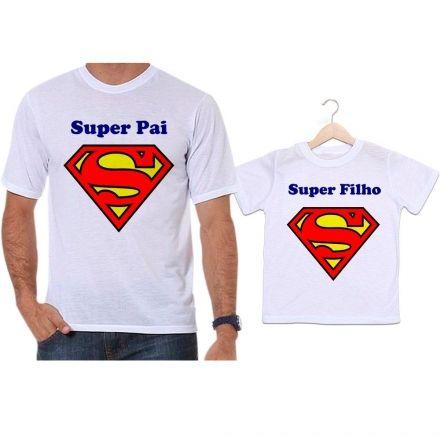 Camisetas Tal Pai Tal Filho Super Pai e Super Filho