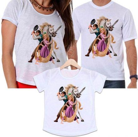 Camisetas Tal Pai, Tal Mãe e Tal Filha Enrolados