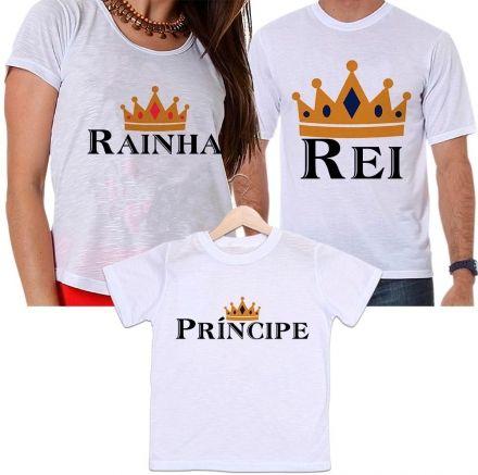 Camisetas Tal Pai, Tal Mãe e Tal Filho Coroa Dourada Família