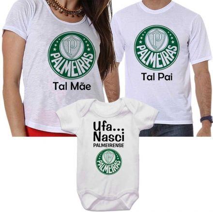 Camisetas Tal Pai Tal Mãe Tal Filho Time Palmeiras
