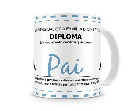 Caneca Diploma Papai Nota 10