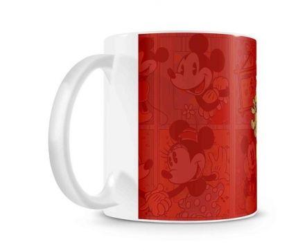 Caneca Mickey e Minnie Coração Vintage