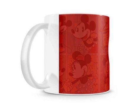 Caneca Mickey e Minnie Coração Vintage Apaixonados