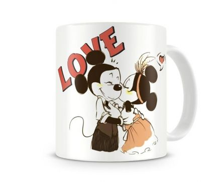 Caneca Mickey e Minnie Love