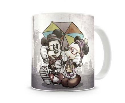 Caneca Mickey e Minnie Vintage Chuva