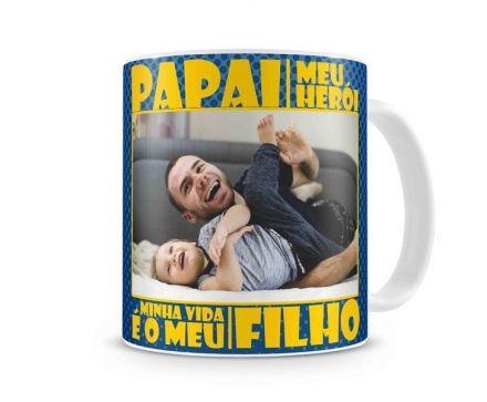 Caneca Personalizada Papai Meu Herói