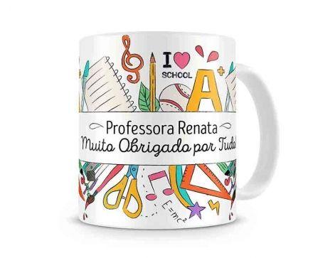 Caneca Personalizada Professora Obrigado por Tudo!