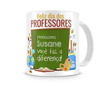Caneca Personalizada Professora Você Faz a Diferença