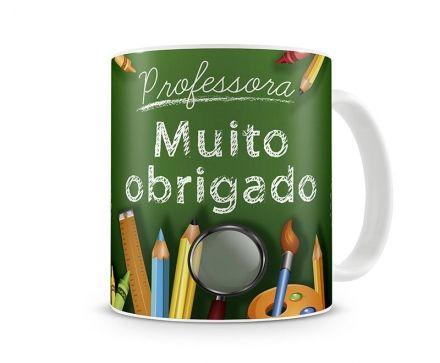 Caneca Professora Muito Obrigado