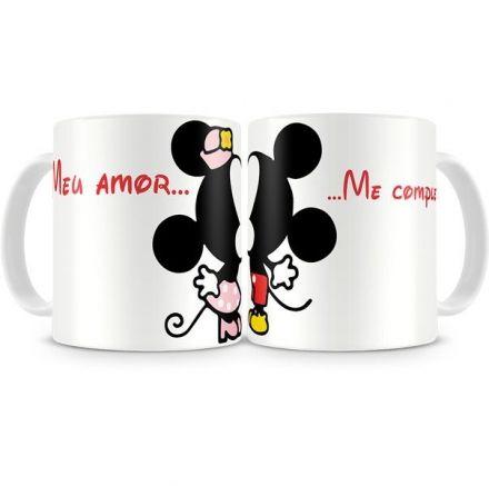 Canecas Mickey e Minnie Meu Amor... Me Completa...