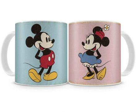 Canecas Mickey e Minnie Vintage