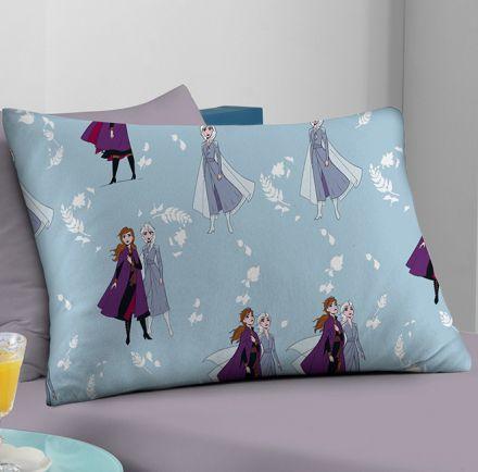 Fronha Avulsa Frozen Disney Outono Lilás