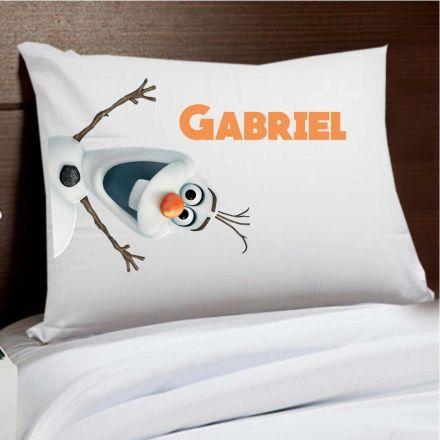 Fronha Personalizada Frozen Olaf Com Nome