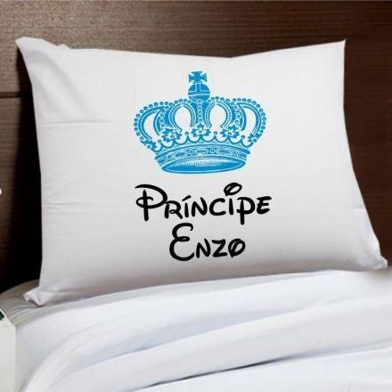 Fronha Personalizada Príncipe Coroa Azul
