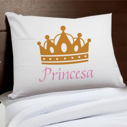Fronha Princesa Coroa Dourada