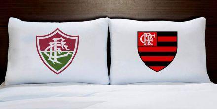 Fronhas Casal Fluminense e Flamengo Times de Futebol