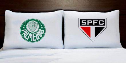 Fronhas Casal Palmeiras e São Paulo Times de Futebol