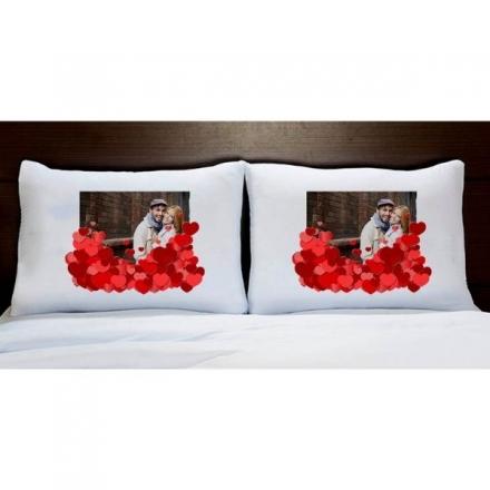 Fronhas Casal Personalizadas Com Foto Corações