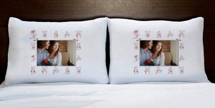 Fronhas Casal Personalizadas Com Foto Decoração
