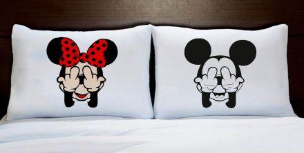 Fronhas Casal Personalizadas Mickey e Minnie